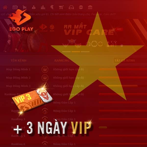 QUÀ TẶNG 3 NGÀY VIP - LỊCH TRỰC LỄ 30/04 - 01/05/2021 EGOPLAY